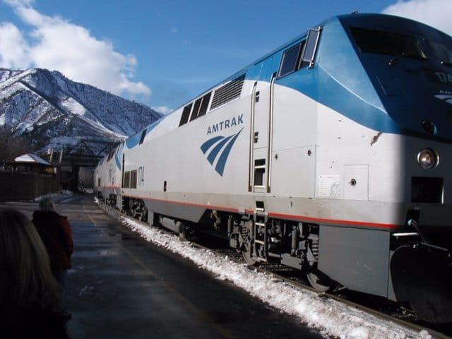 amtrak locomotive; amtrak car; amtrak