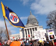 Wisconsin Rally; Wisconsin; Rally; protest