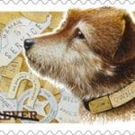Dog; Railway Stamp; Dog on Railway Stamp; Stamp