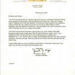 nigro wisconsin letter