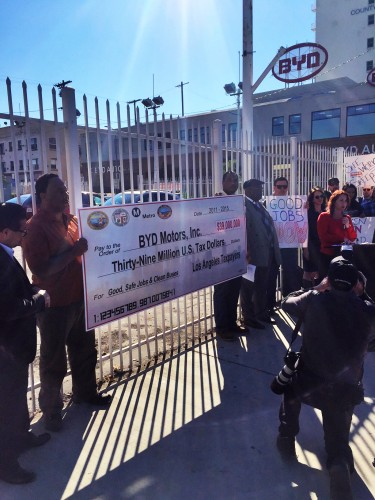 BYD Protest in LA