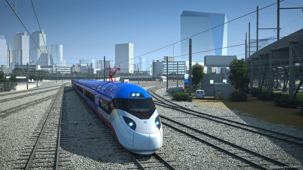 Amtrak high speed rail_Philadelphia-background