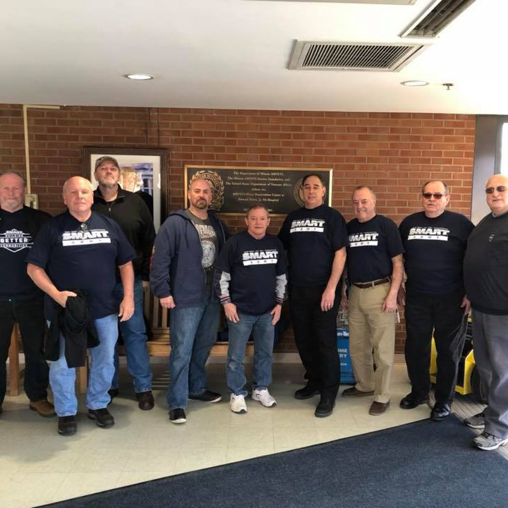 Local 73 Smart Army Volunteers At Local Va Hospital
